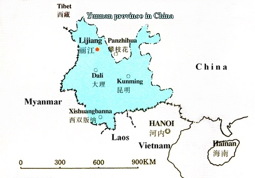 Yunnan province in China